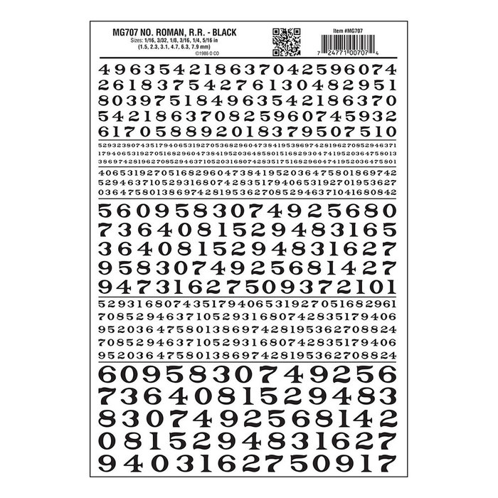 RR Roman Numbers/black
