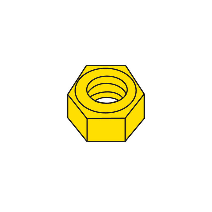 0-80 Hex Nuts (5)