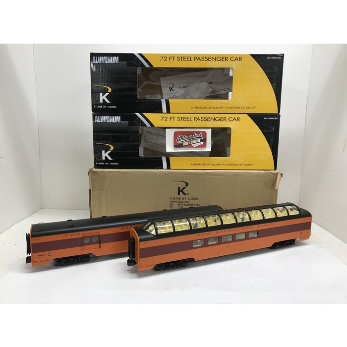 "K-Line By Lionel 6-22277 O Milwaukee Road 18"" Aluminum Dome/Baggage 2-pack"