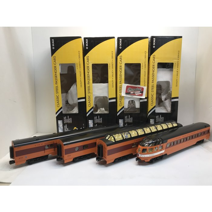 "K-Line K4643-30189 O Milwaukee Road Aluminum 18"" 4-Car Passenger Set"