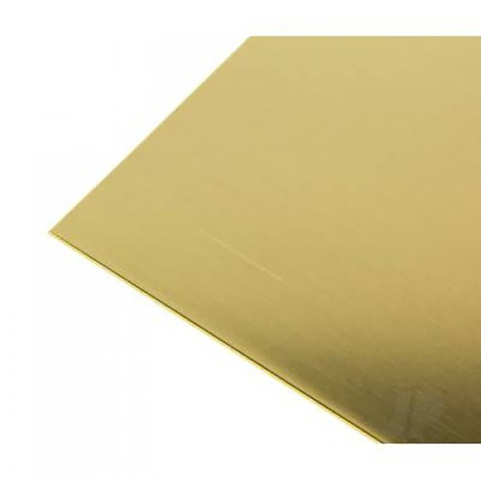 Brass Metal Sheet .010 x 4 x 10   6pk
