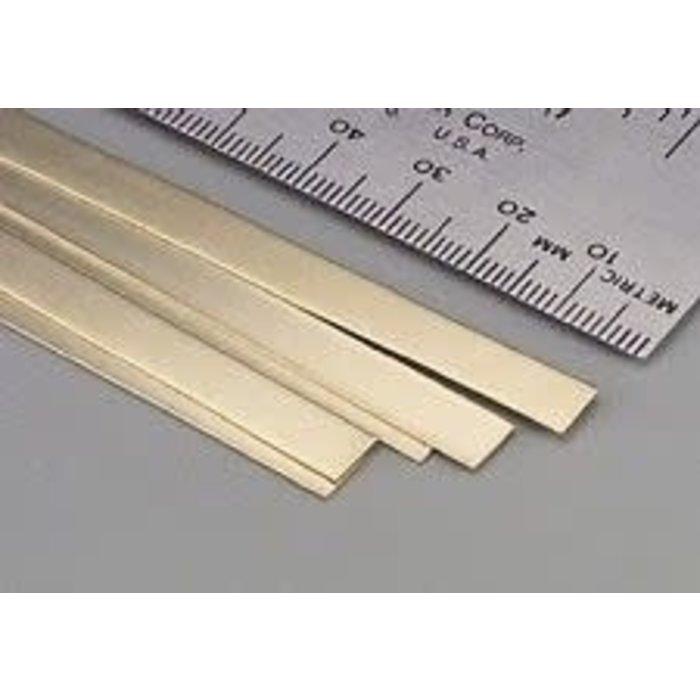 Brass Strip .016 x 1/4 x 12   1cd