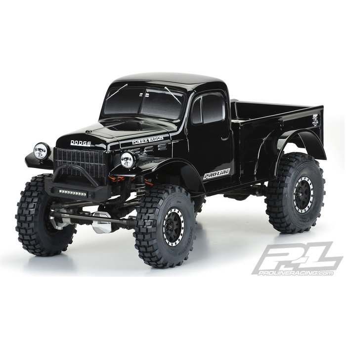 "1/10 1946 Dodge Power Wagon (Black) 12.3"" WB Crawlers"