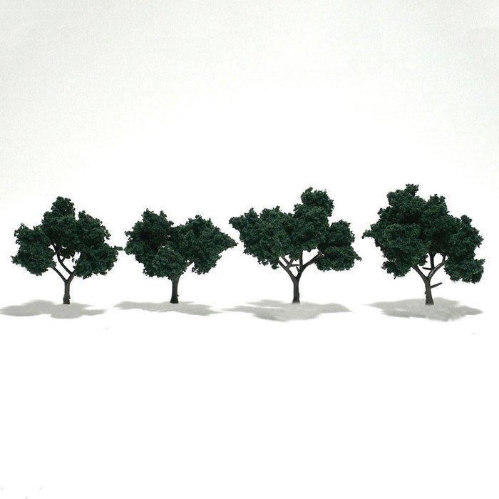 """Trees 4"""" - 5""""  Medium Green"""