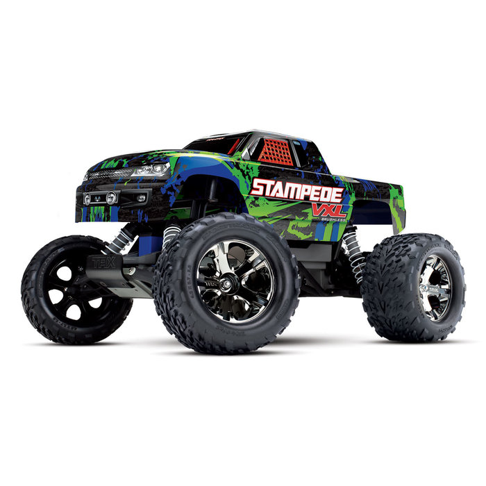 Stampede® VXL:  1/10 Scale Monster Truck Green