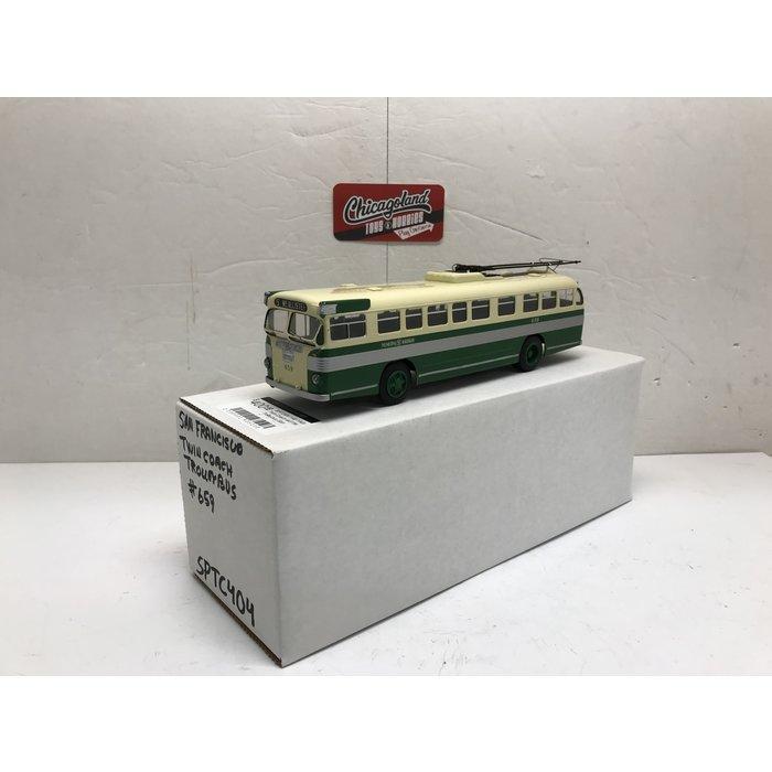 St Petersburg Tram Collection #404 1/48 1949 Twin Coach 44TTW Trolleybus (San Francisco Municipal Railways 659)