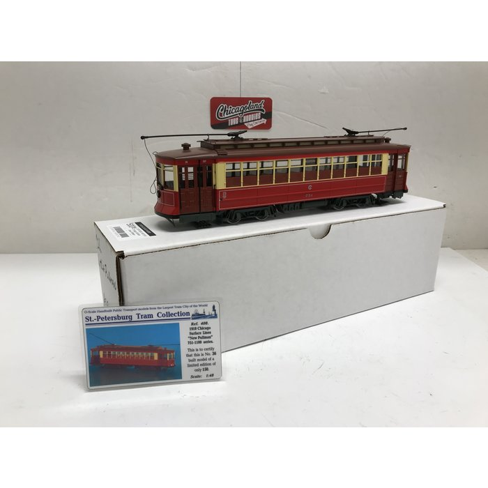 St Petersburg Tram Collection #408 1/48 1910 Chicago Surface Lines Pullman-Standard Streetcar
