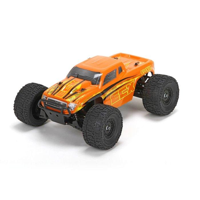 Ruckus 1/18 4WD Monster Truck: Orange/Yellow RTR