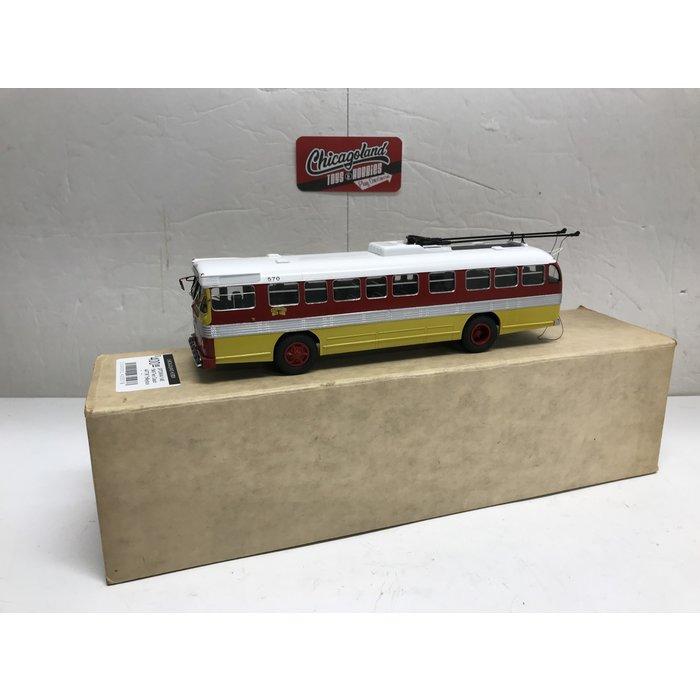St Petersburg Tram Collection #404a 1/48 1949 Twin Coach 44TTW Trolleybus San Francisco Municipal Railway #570
