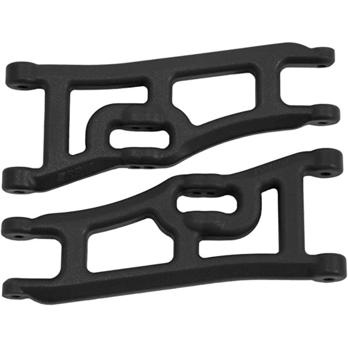 Wide Front A-arms, Black; Traxxas Rustler Stampede