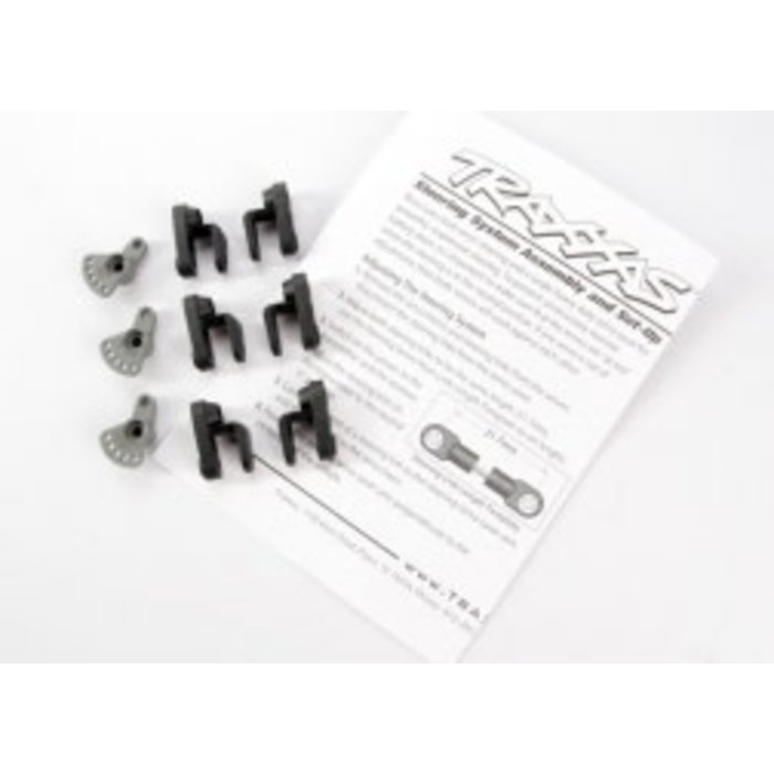 Servo horns, steering and throttle (for non-Traxxas® servos (Hitec, JR, KO, Airtronics))