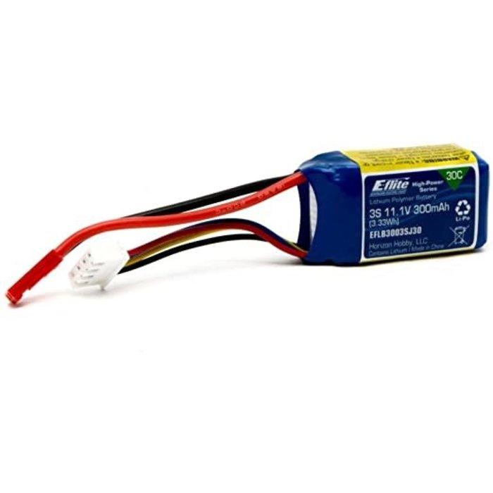 E-flite 300mAh 3S 11.1V 30C LiPo, JST