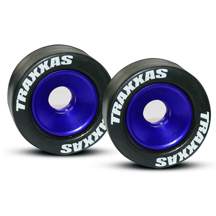 Wheels, aluminum (blue-anodized)
