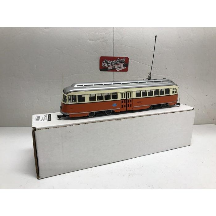 "St Petersburg Tram Collection #57C-2  1/48 1944 MTA Boston Pullman-Standard PCC - post'59 livery (""Commonwealth"" cars) #3103"