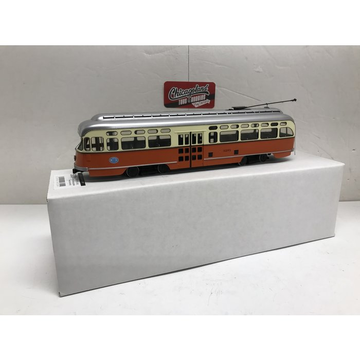 """St Petersburg Tram Collection #171a 1/48 1951 MTA Pullman-Standard """"Picture Window"""" PCC #3295"""
