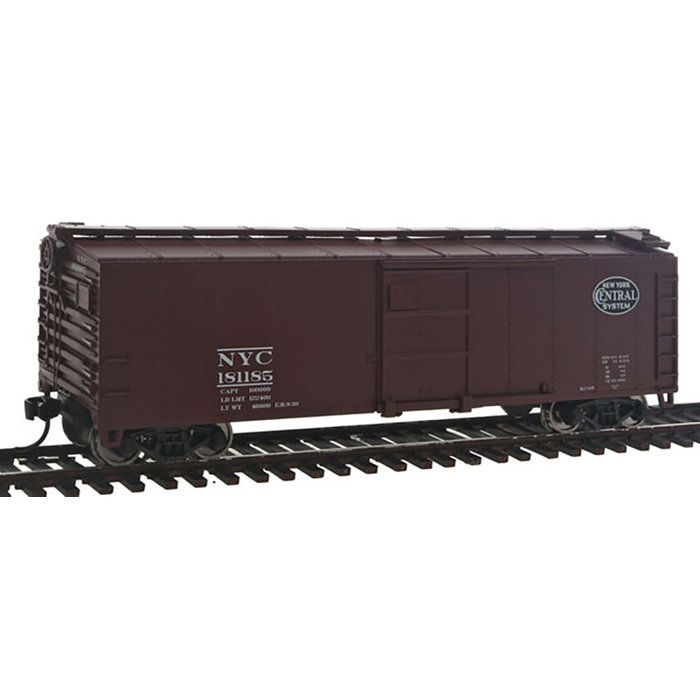 40' Steel Boxcar w/Dreadnaught End, Flat Roof, Wood Running Boards -- New York Central #181185