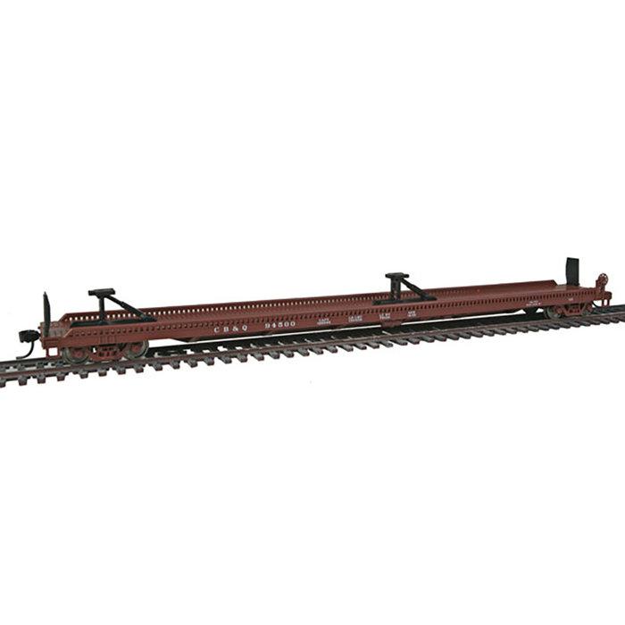 75' Piggyback Flatcar - Ready to Run -- Chicago, Burlington & Quincy #94500