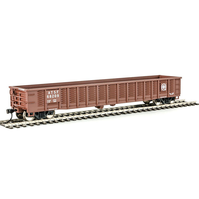 53' Corrugated-Side Gondola - Ready To Run -- Santa Fe #68209 (Boxcar Red, Q Logo)