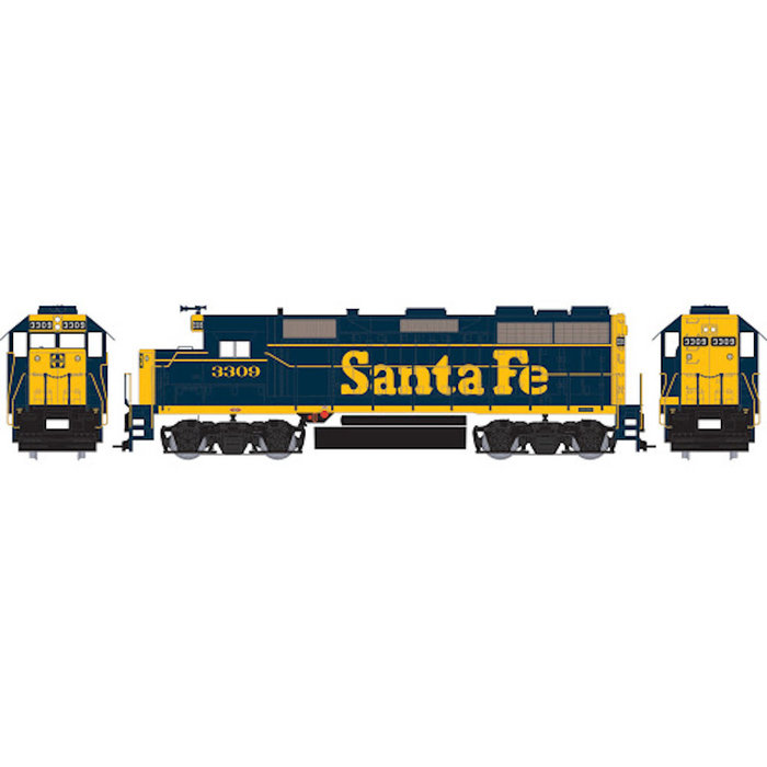 HO GP35 Santa Fe #3309 DCC Ready