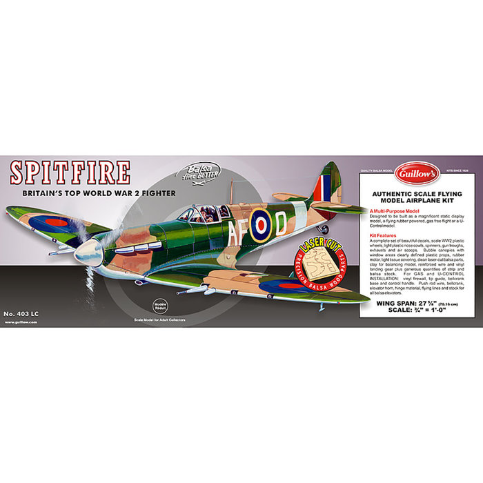 Supermarine Spitfire Laser Cut