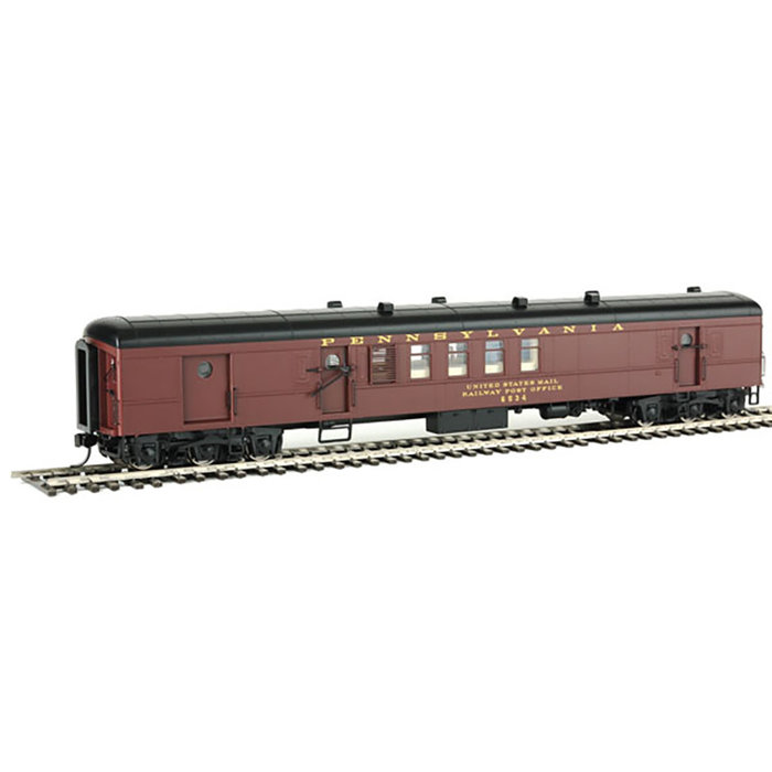 1960s Broadway Limited 70' PRR BM70n RPO-Baggage Deluxe 1 - Ready-to-Run -- Pennsylvania Railroad #6534 (tuscan, black, dulux)