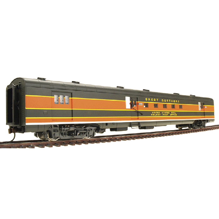 ACF Baggage-Mail - Ready to Run -- Great Northern #37-42 (Empire Builder, Omaha Orange, Pullman green)