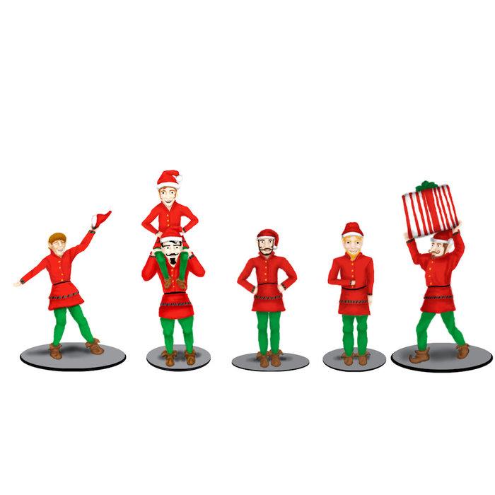 O Polar Express Elves Figure Pack/5pc