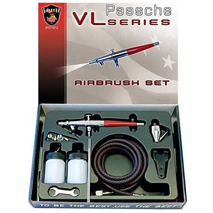 VL Double Action Siphone Feed Airbrush Set
