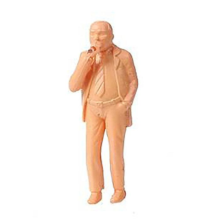 O Lighted Fig. Man w/Smoking Cigar Unpainted