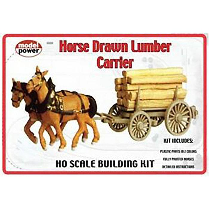 HO Horse Drawn Lumber Carrier