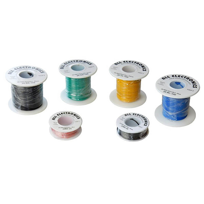 20G Hook Up Wire 25' Green