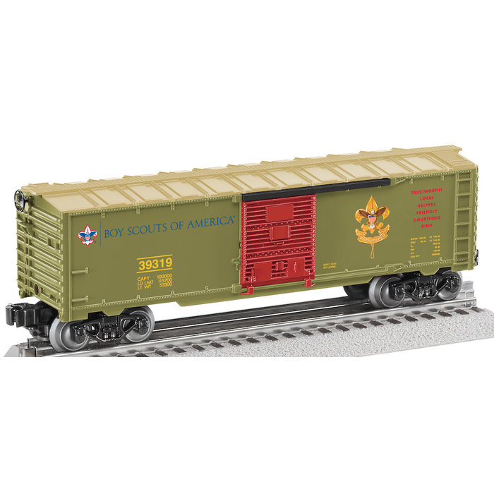 O Boy Scouts of America Box Car