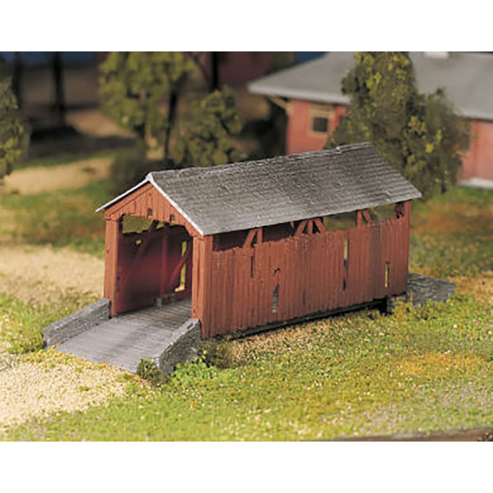 O Plasticville Covered Bridge Kit