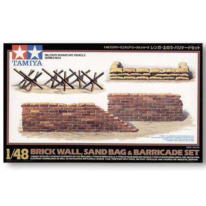 1:48 Brick Wall & Barricades