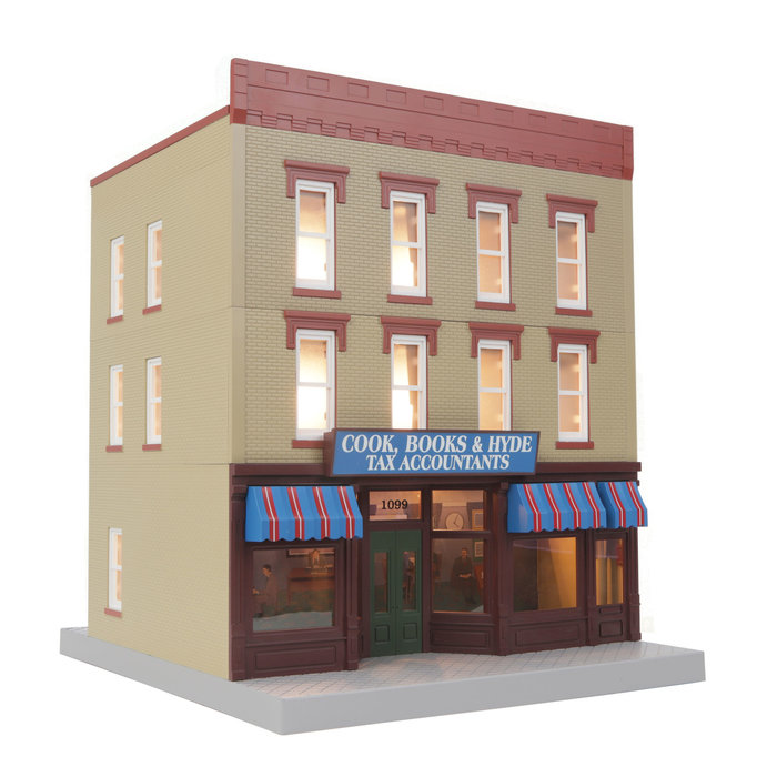 O Cook  Books & Hyde Tax Accountants 3-Story City Building 1