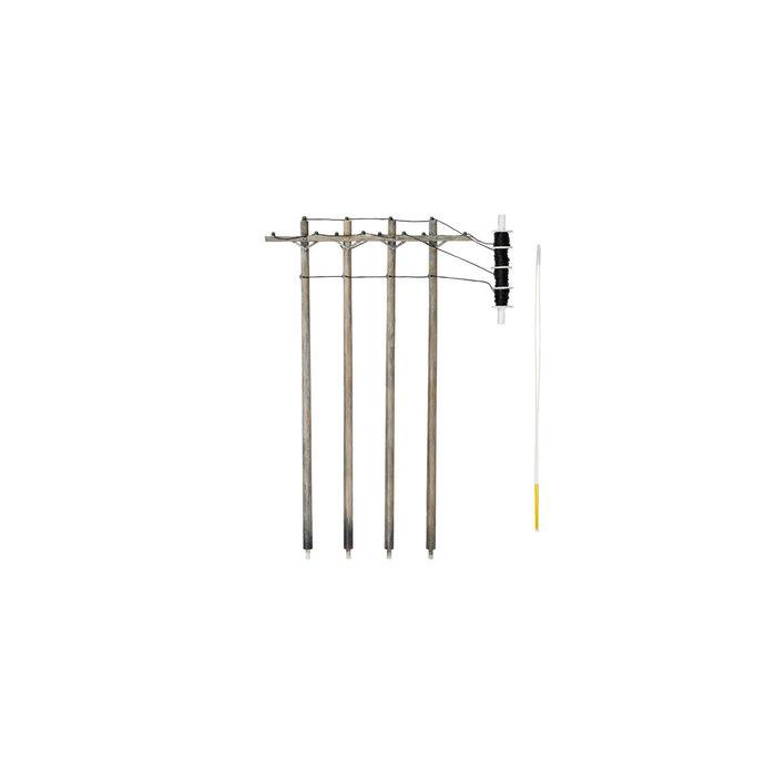 HO Pre-Wired Poles - Single Crossbar