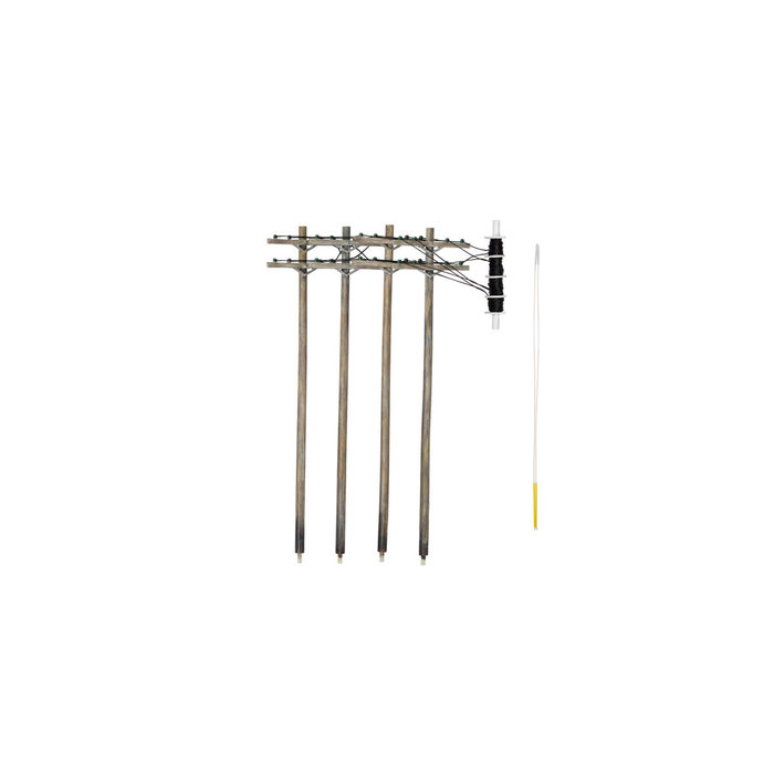 O Pre-Wired Poles - Double Crossbar
