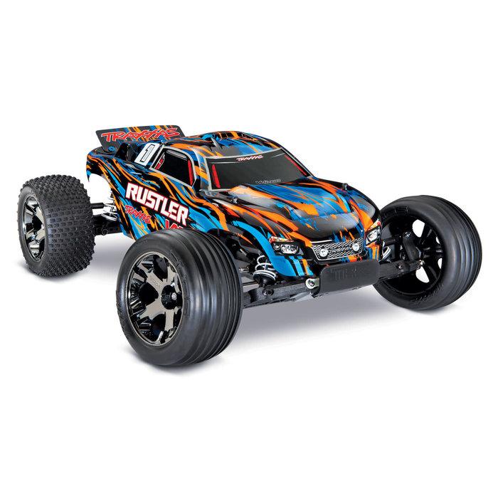 Rustler® VXL:  1/10 Scale Stadium Truck Orange