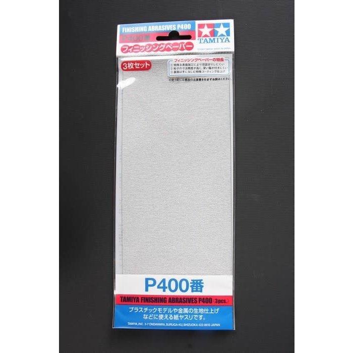 Finishing Abrasives P400 - 3 Sheets