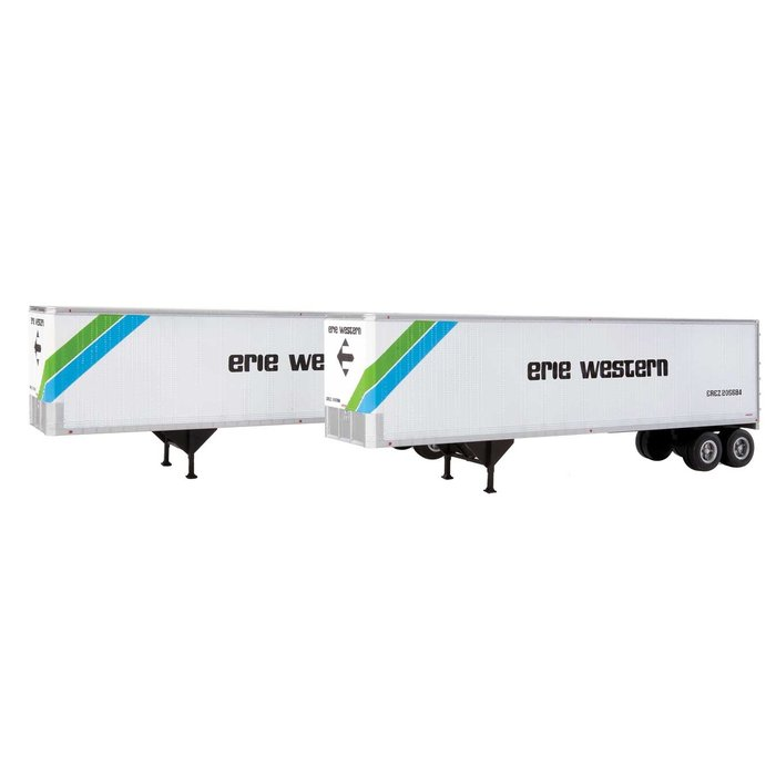 HO 40' Trailmobile Trailer 2 pack Eire Western