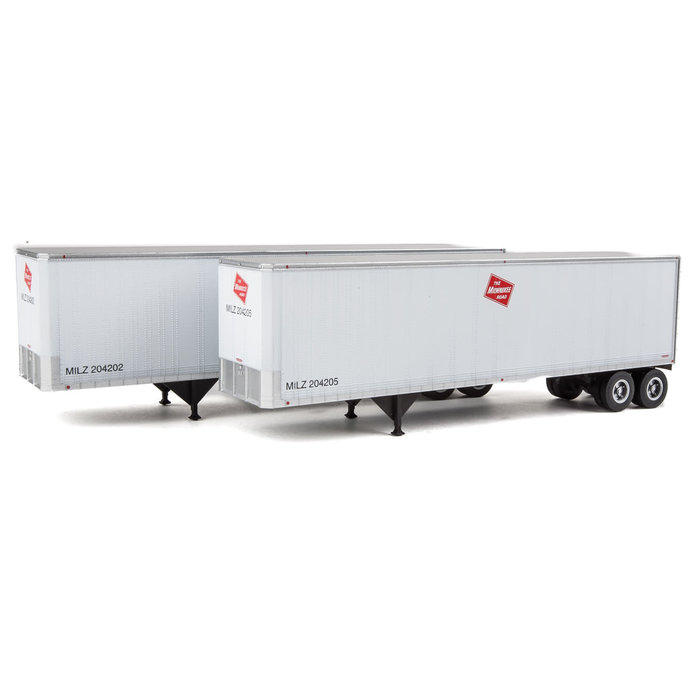 HO 40' Trailmobile Trailer 2 pack Milwaukee Road