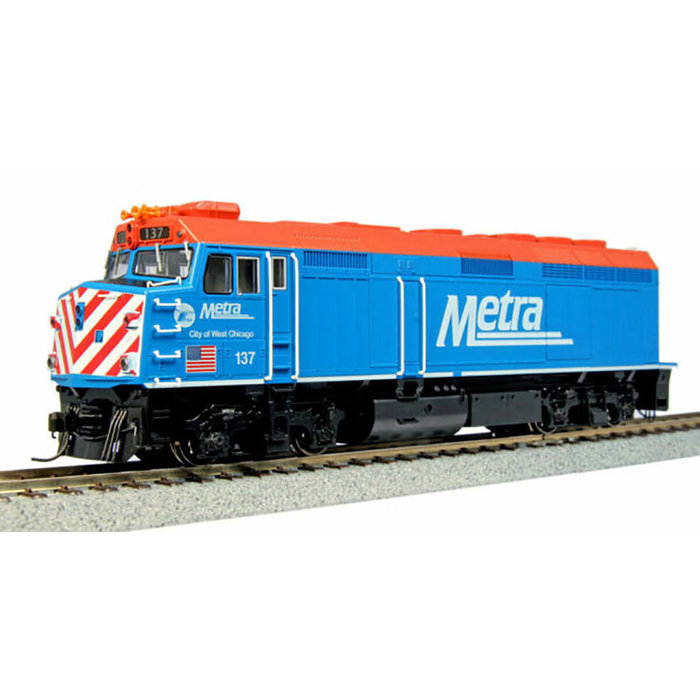 HO F40PH Diesel Chicago Metra #137/City of West Chicago