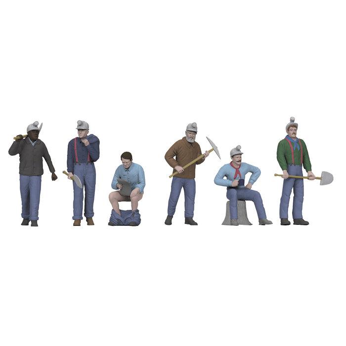 O Miners Figures #6  6pc