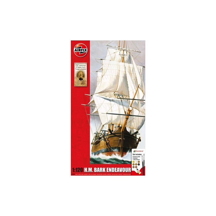 1:120 Endeavour Bark and Captain Cook 250th anniversary