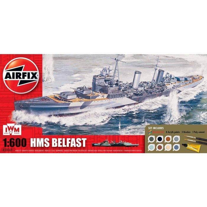 1:600 HMS Belfast Gift Set