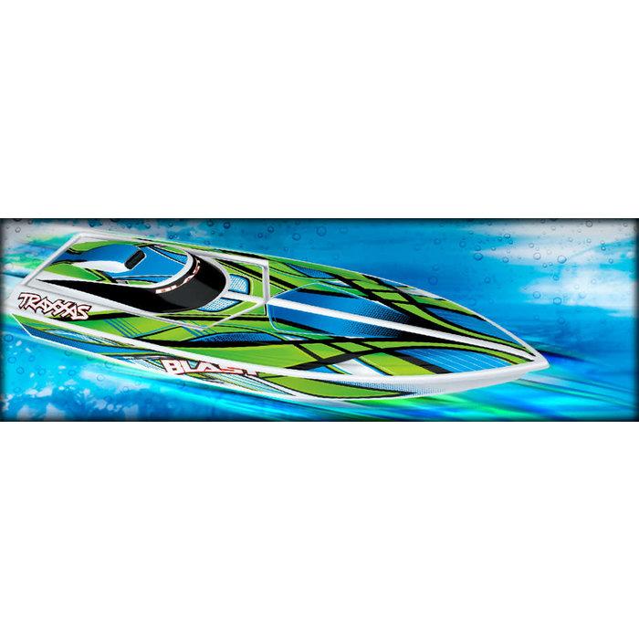 Blast Race Boat, RTR w/TQ 2.4Rx, Green/Multi Color
