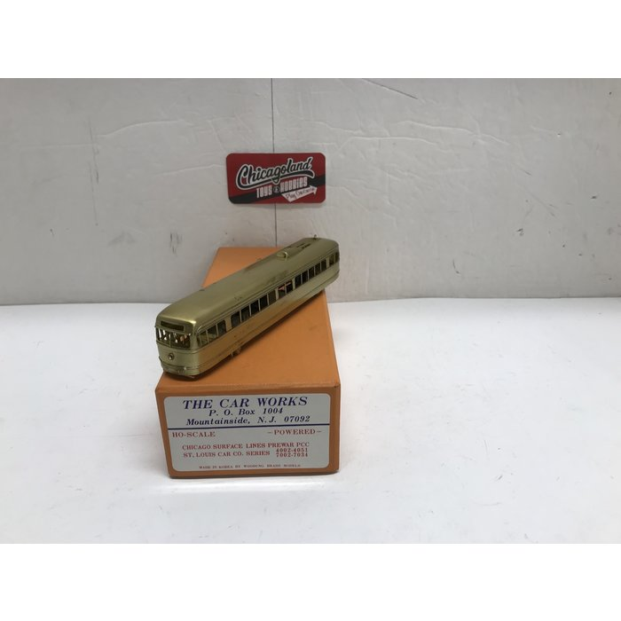 The Car Works HO Brass Prewar CSL PCC