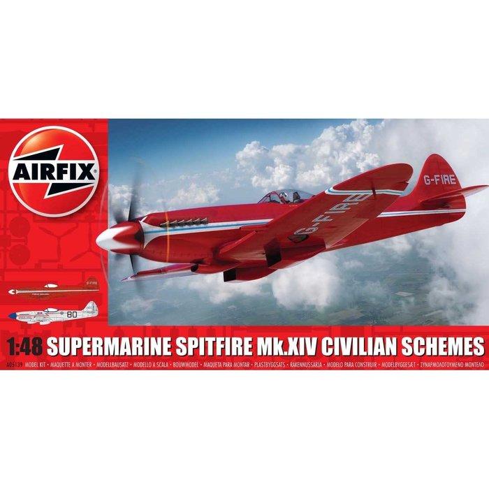1:48 Supermarine Spitfire MkXIV Civilian Schemes