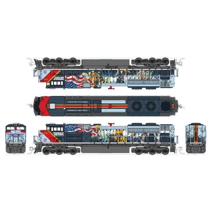 N SD70ACe Diesel UP #1111 Powered by Our People DCC