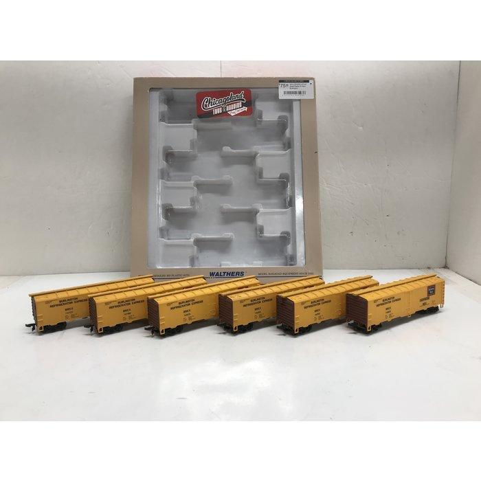 Walthers 932-950 HO 40' Steel Reefer 6-Pack Burlington